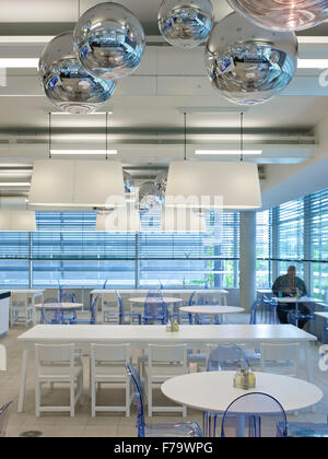 Canteen Dining Area In QVC Chiswick Park London UK
