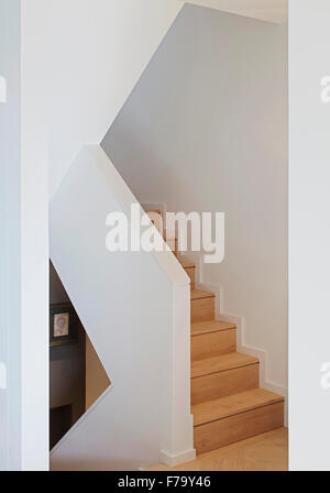 Stairway in modern flat, London 2012, design by de Rosee Sa - Stock Photo