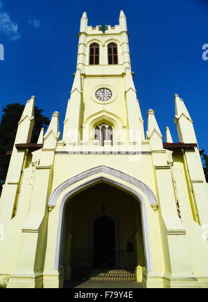 Famous Christ Church Shimla, Himachal Pradesh - Stock Photo