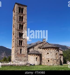 Sant Climent church in Taull, Lleida, Catalonia. - Stock Photo