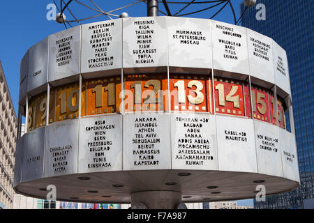 Berliner Weltzeituhr, World Clock in Alexanderplatz, Berlin, Germany. - Stock Photo