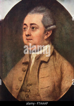 Edward Gibbon, 1737 - 1794.   English historian, author and Member of Parliament.  After the painting by Henry Walton. - Stock Photo