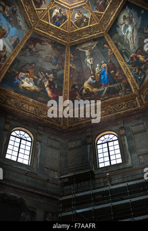 Medici Painted ceiling of the Chapel of the princes. Architect: Matteo Nagetti and Bernardo Buontalenti Medici Chapels, - Stock Photo
