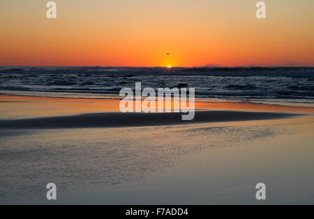 During sunset at  Tierra Del Mar, Oregon, U.S.A. - Stock Photo