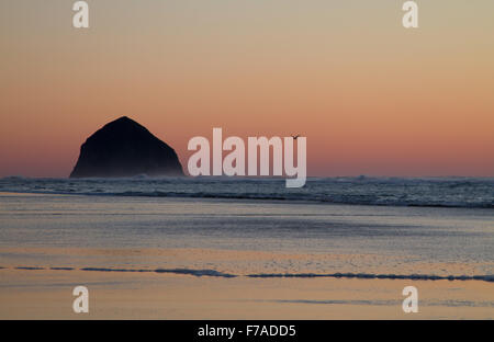 Just after sunset at  Tierra Del Mar, Oregon, U.S.A. - Stock Photo