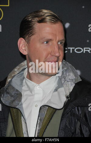 London, UK, 26 November 2015, Christopher Raeburn attends Fashion Finds the Force based on Star Wars: The Force - Stock Photo