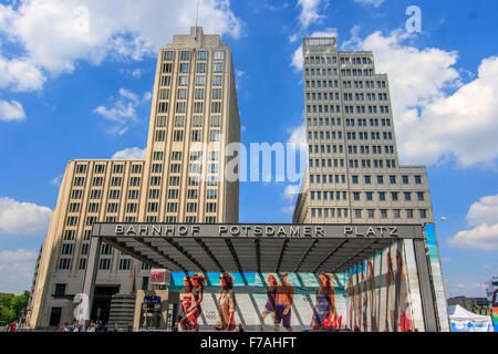Potsdamer platz subway entrance in Berlin - Stock Photo