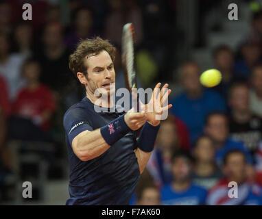 Gent, Belgium, November 27, 2015, Davis Cup Final, Belgium-Great Britain, Second match, Andy Murray (GBR)  Credit: - Stock Photo