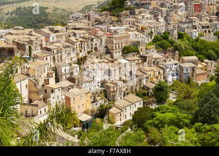 Ragusa Ibla (Lower Town), Sicily, Italy UNESCO - Stock Photo