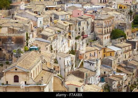 Ragusa Ibla (Lower Town), Sicily (Sicilia), Italy UNESCO - Stock Photo
