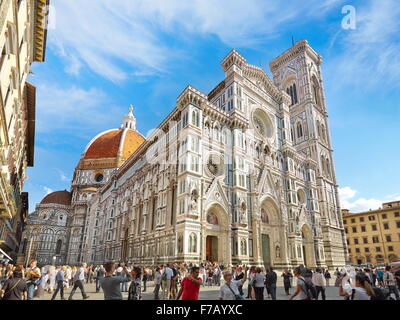 Cathedral of Santa Maria del Fiore, Florence, Tuscany, Italy - Stock Photo