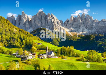 Puez Odle Nature Park, Dolomites Mountains, European Alps, South Tyrol, Italy - Stock Photo
