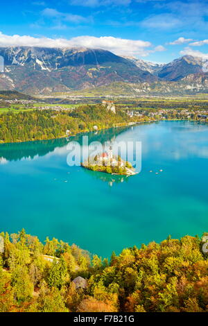 Slovenia, Autumn Lake Bled - Stock Photo