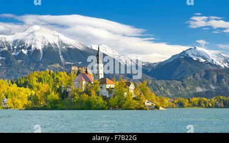 Lake Bled, Julian Alps, Slovenia - Stock Photo