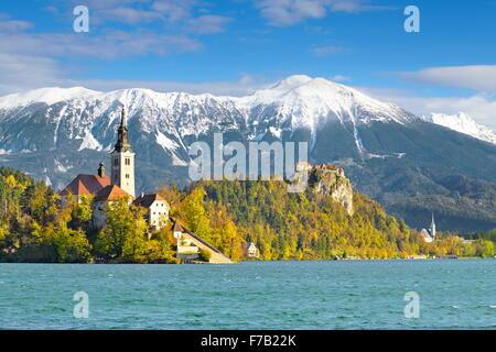 Slovenia, Julian Alps - Lake Bled - Stock Photo