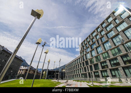 Consell General, Andorra la Vella, capital city of Andorra, Andorra - Stock Photo