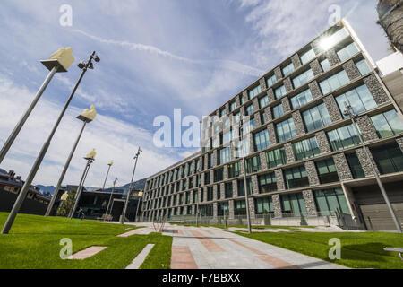 Consell General, Andorra la Vella, capital city of Andorra, Andorra - Stock Photo