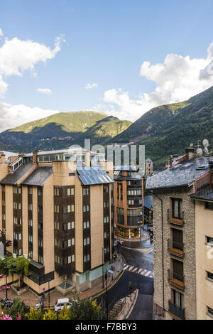 Andorra la Vella, capital city of Andorra, Andorra - Stock Photo