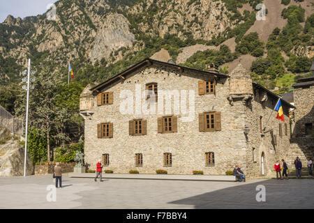 Casa de la vall the seat of the parliament of andorra the smallest stock photo royalty free - Andorra la vella apartamentos ...