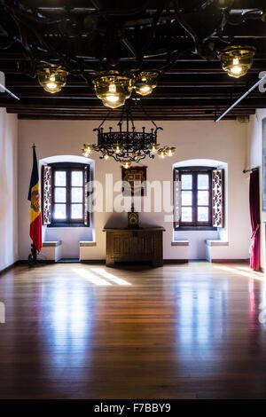 Casa de la Vall, old parlament, Andorra la Vella, capital city of Andorra, Andorra - Stock Photo