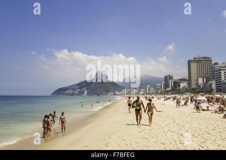 Rio de Janeiro, Ipanema Beach, Brazil - Stock Photo