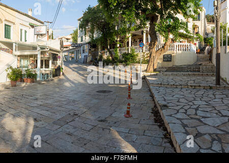 Kassiopi at first light before any tourists are out. - Stock Photo