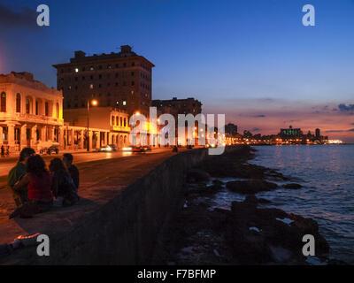 Malecon, Havana, Cuba, Havanna - Stock Photo
