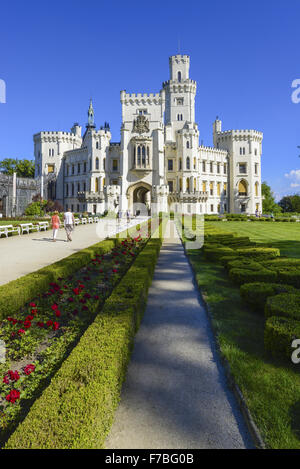 Castle Hluboka nad Vltavou, Frauenberg, Czech Republic, Southern Bohemia, Hluboca - Stock Photo