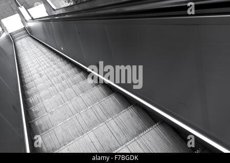 Escalator, France, Ile de France, Paris - Stock Photo