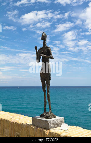 Skinny statue in Nice on the sea - Stock Photo