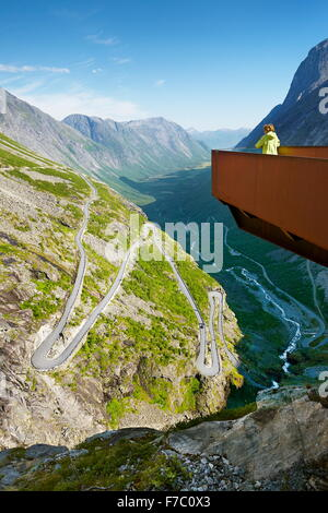 Trollstigen high mountain road, Norway - Stock Photo