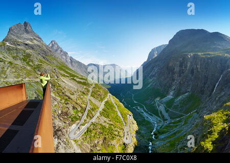 Trollstigen (Trolls Ladder or Trolls Causeway), Norway - Stock Photo