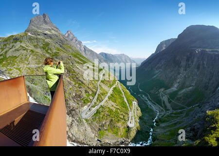 Trollstigen mountain road, Norway - Stock Photo