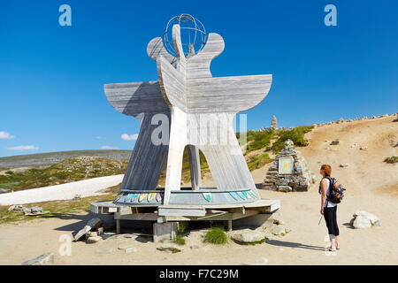 Border of the Polar Artic Circle, Saltfjellet, Norway - Stock Photo