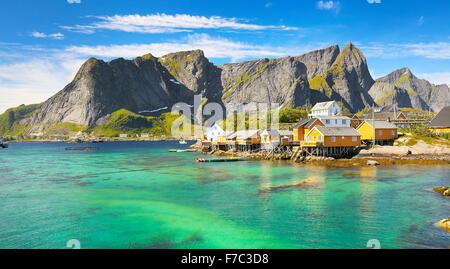 Lofoten Islands landscape, Moskenes, Norway - Stock Photo