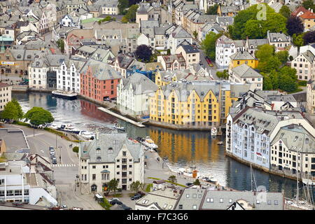 Alesund, More og Romsdal, Norway - Stock Photo