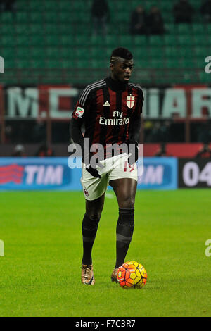 Milan, Italy. 28th Nov, 2015. M'Baye Niang of AC Milan during the Italian Serie A League soccer match between AC - Stock Photo