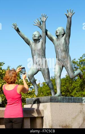 Vigeland Sculpture Park, Vigelandsparken, Oslo, Norway - Stock Photo