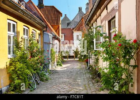 Old town in Helsingor, Denmark - Stock Photo