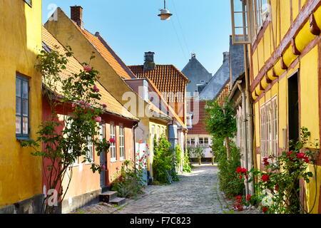 Old town city in Helsingor, Denmark - Stock Photo