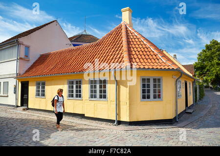Hans Christian Andersen's home in Odense, Denmark - Stock Photo