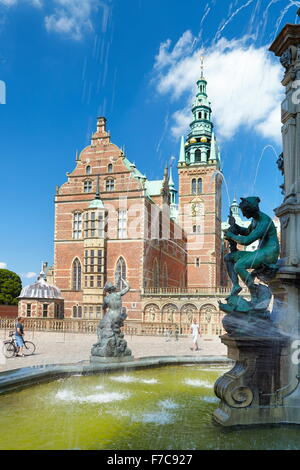 Neptune Fountain at Frederiksborg Palace, Hillerad, Denmark - Stock Photo