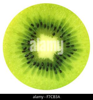 Cross section of a kiwi fruit - Stock Photo