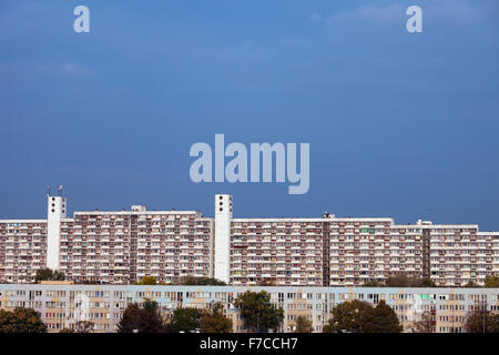 City of Wroclaw, Poland, large blocks of flats, large apartment buildings, condominium, residential architecture. - Stock Photo