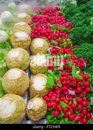 Vegetable display - Stock Photo