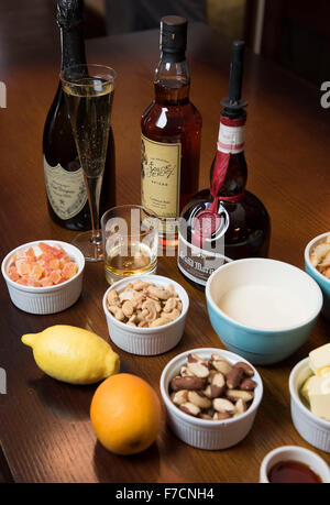 Christmas pudding ingrediants - Stock Photo