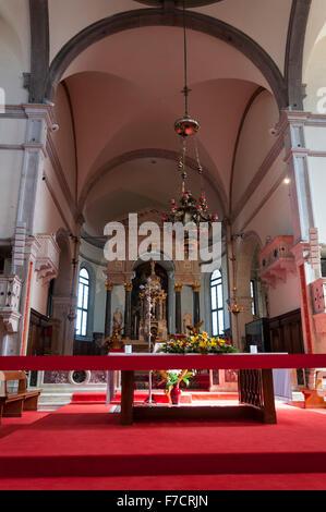 Chiesa di Santa Maria Formosa interior, Venice, Italy - Stock Photo