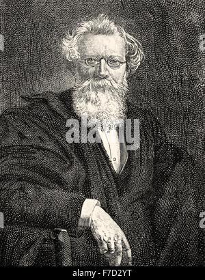 August Wilhelm von Hofmann, 1818- 1892, a German chemist - Stock Photo