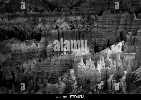 Hoodoos in Bryce National Park, Utah - Stock Photo