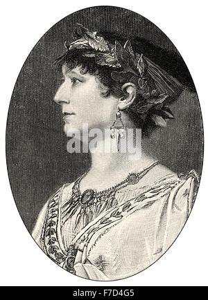 Elisabeth Charlotte Wolter, 1834-1897, a German-Austrian actress - Stock Photo